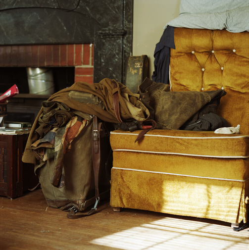 Belongings of house guest who stayed for two weeks,
